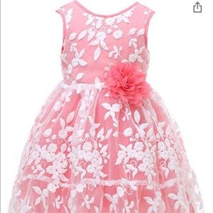 Bow Dream Flower Girl Dress in Coral